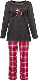 Femme Grandes Tailles Pyjama, Motif Chiens Amoureu