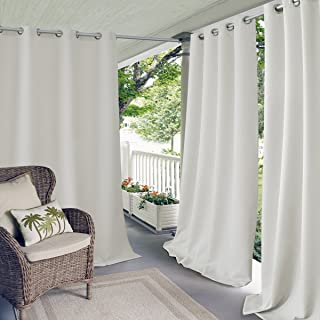 Elrene Home Fashions Connor Indoor/Outdoor Solid Grommet Panel Window Curtain, 52