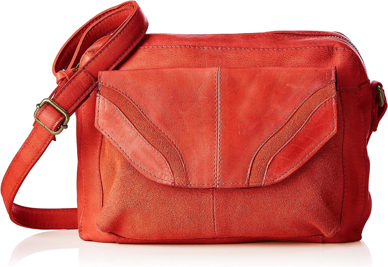 Pieces Women's Pcgro Leather Large Cross Body CrossBody Bag