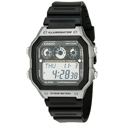 a522fec323c Casio Men s AE-1300WH-8AVCF Illuminator Digital Display Quartz Black Watch