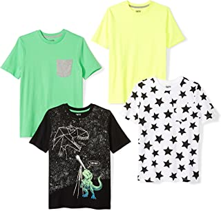 Spotted Zebra Amazon Brand Boys' Toddler & Kids 4-Pack Short-Sleeve T-Shirts