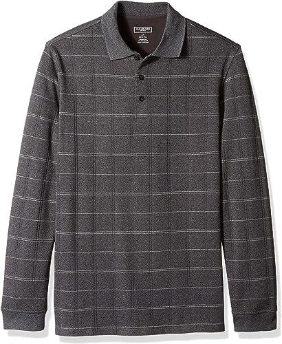 Van Heusen Hommes's Taille Big and Tall Flex Jaspe Polo Shirt, noir Plaid, X-grand Tall