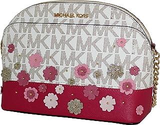 3bacc90b6650e MICHAEL Michael Kors Women s medium EMMY Cross Body Leather Handbag  (Vanilla)