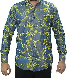 Denim Flower Print Shirts