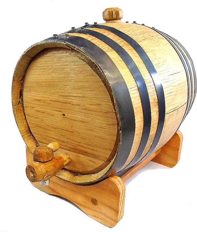 Premium Charred American Oak Aging Barrel No Engraving 5 Liter