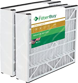 FilterBuy 20x25x5 Air Bear Trion 229990-102 Compatible Pleated AC Furnace Air Filters (MERV 11, AFB Gold). 2 Pack.