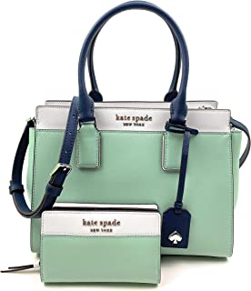 Kate Spade New York Cameron Medium Satchel bundled with matching Bifold Wallet (Springmedow)