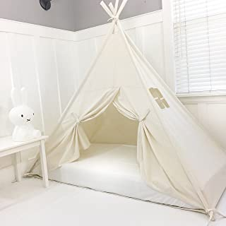 Domestic Objects Handmade Cotton Play Tent Canopy. Great for Toddler Transition to Big Bed - Twin with Doors