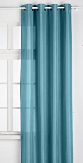 45 x 60 cm Lovely Casa RA1290001 Lisa Coppia di tende in poliestere colore bianco