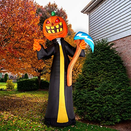 Amazon Com Haunted Hill Farm Hiclown201 L 20 Ft Clown Halloween Blow Up Inflatable With Lights Purple Garden Outdoor