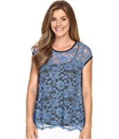 Karen Kane - Blue Lace Flare Top