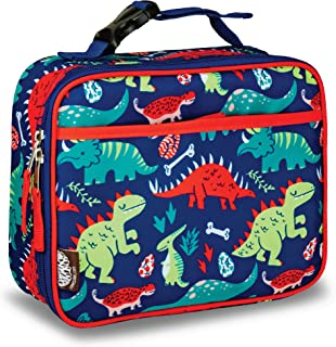 LONECONE Kids' Insulated Lunch Box - Cute Patterns for Boys and Girls, Snack-O-Saurus, Standard with Buckle