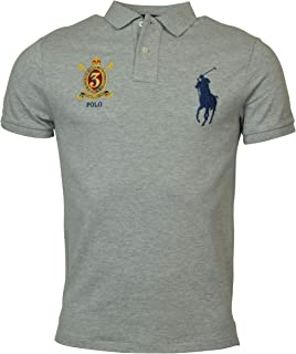 Polo Ralph Lauren Mens Custom Slim Fit Big Pony Crest Polo Shirt
