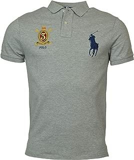 Mens Custom Slim Fit Big Pony Crest Polo Shirt