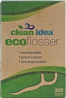 Clean Idea EcoFlosser - Biodegradable Floss Picks - Dental Floss Picks - Plant Based - Vegan - Sustainable - Eco Friendly...
