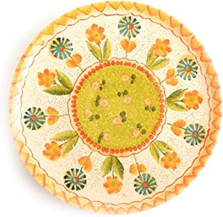 Festa Dinnerware – Dinner Plate A w/Floral Art Design - Festive Dinnerware made of Italian Dinnerware Set of Flowery Hand Painted Ceramic