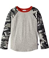 Splendid Littles - Raglan Crew with Printed Camo (Little Kids/Big Kids)