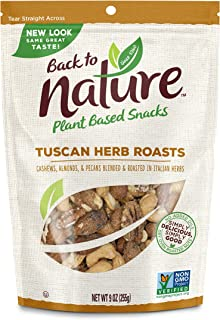 Back to Nature Trail Mix, Non-GMO Tuscan Herb Roasts Blend, 9 Ounces (Pack of 9)