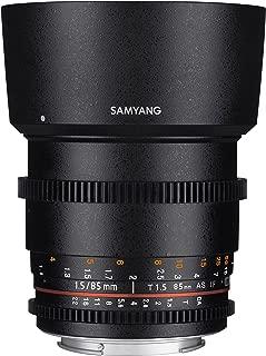 Samyang SYDS85M-C VDSLR II 85mm T1.5 Cine Lens for Canon EF Cameras