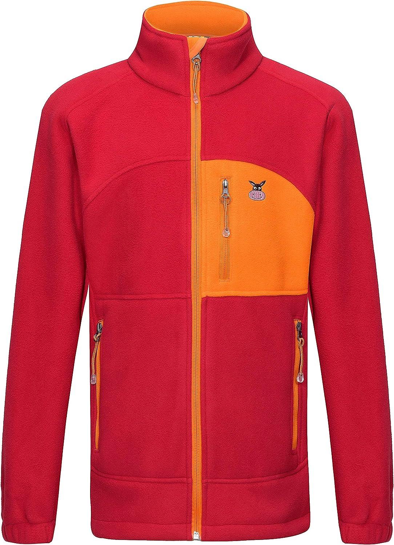 Little Donkey Andy Youth Boys' Girls' Soft Polar Fleece Jacket Full-Zip Regular Fit Jacket for Kids