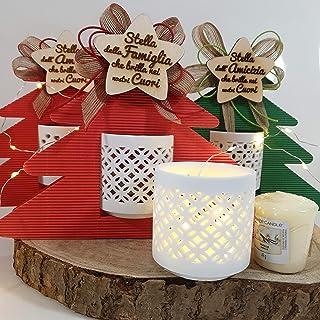 Sindy Bomboniere Velas perfumadas Regalos Navidad Paquete con portavelas y votivo (Stella Amor)