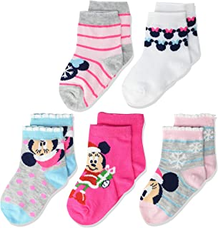 Disney Minnie Mouse Baby 5 Pack Shorty Socks