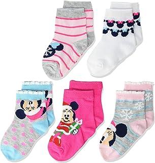 جوارب قصيرة للأطفال ميني ماوس من ديزني 5 قطع