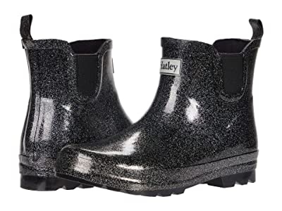 Hatley Kids Starry Night Glitter Ankle Rain Booties (Toddler/Little Kid) (Black) Girl