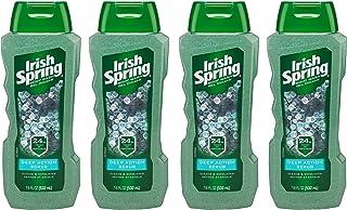 Irish Spring Exfoliating Men's Body Wash, Deep Action Scrub - 18 fluid ounce (4 Pack)
