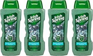 Irish Spring Body Wash, Deep Action Scrub, 18 fluid ounce (Pack of 4)