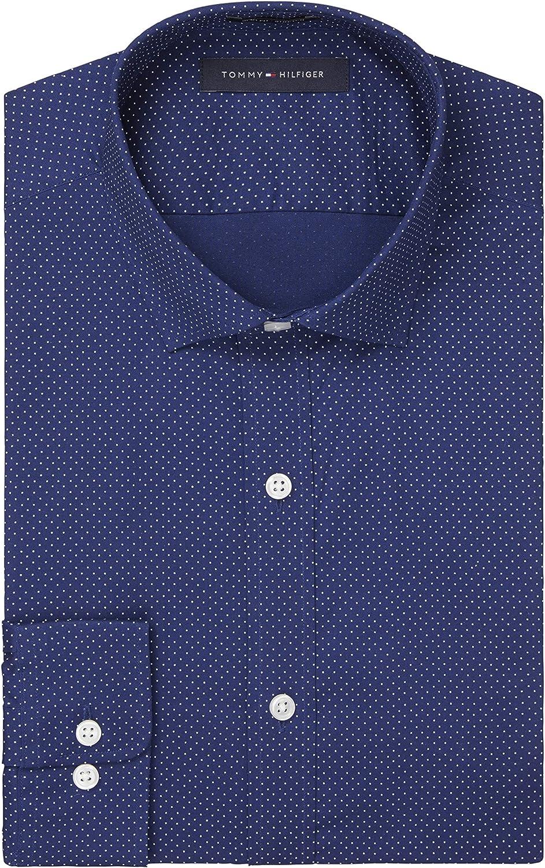 Tommy Hilfiger Men's Dress Shirts Stretch Brand Cheap Sale Venue Slim Spread Fit Max 53% OFF Print