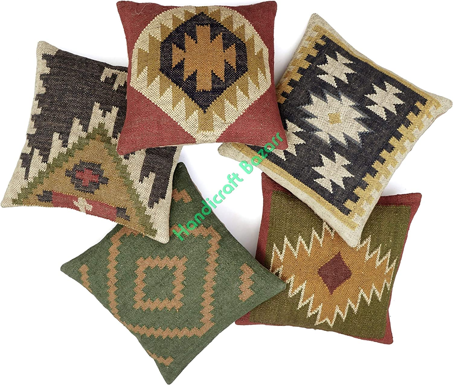 Handicraft Bazarr Ethnic Manufacturer OFFicial shop Throw Cushion Cover Traditional Decor J In a popularity