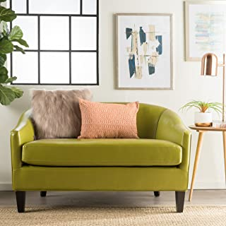 Christopher Knight Home Isolde Modern Petite Loveseat (Fabric (Green Leather)