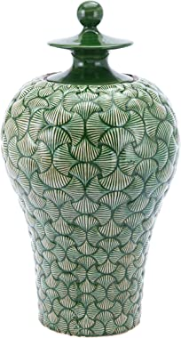 Zuo Ventra Large Temple Jar, Green