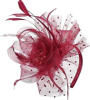 Flower Cocktail Tea Party Fascinators Feather Headwear Top Hats Wedding Headband for Women