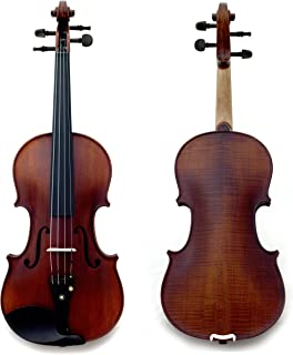 Sky Guarantee Mastero Sound Copy of Stradivarius 4/4 Size Professional Hand-made Two-piece Back 4/4 Full Size Acoustic Violin Antique Style Ebony Parts