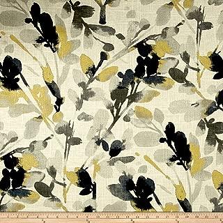 WAVERLY Leaf Storm Linen Fabric, Graphite