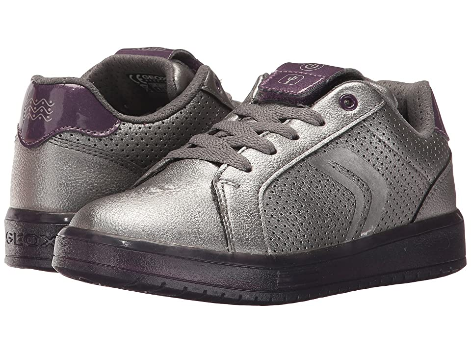 Geox Kids JR Kommodor Girl 2 (Little Kid/Big Kid) (Dark Silver/Prune) Girl