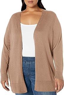 Lark /& Ro Plussize Long Sleeve Lightweight Mid Length Cardigan Sweater Donna Marchio