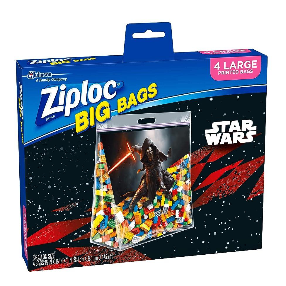 Ziploc Brand Big Bags featuring Marvel Studios' Avengers: Infinity War Design, Large, 4 ct