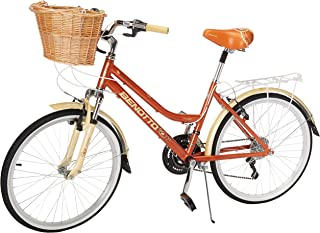 Benotto Bicicleta Moorea Aluminio FS R24 21V Dama, Canastilla,Salpicaderas