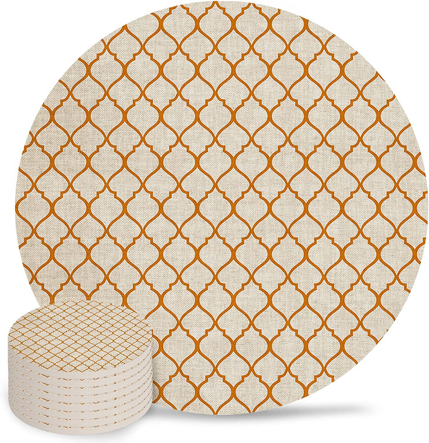 Moroccan Absorbent Coasters 8-Piece Ceramic Set for Sale SALE% OFF Dr