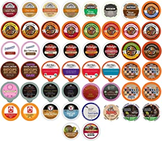 Coffee, Tea, Cider, Cappuccino and Hot Chocolate Single Serve Cups For Keurig K Cup Brewers Variety Pack Sampler, 50 Count