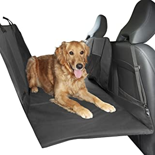 Furhaven Pet Dog Barrier & Furniture Cover | Universal Multipurpose Travel Barrier Seat Cover for Dogs w/ Padded Platform Backseat Bridge Extender Base & Carry Bag, Gray, One-Size