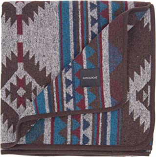 RUTH&BOAZ Outdoor Wool Blend Blanket Ethnic Inka Pattern(L)