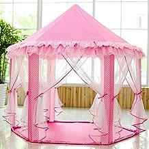 SkyeyArc Princess Tent with Metal Frame, Princess Castle Play Tent, Pink Tent, Princess Playhouse, Kids Tents, Great for Girls.