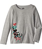 Life is Good Kids - Party Time Cat Long Sleeve Crusher Tee (Little Kids/Big Kids)