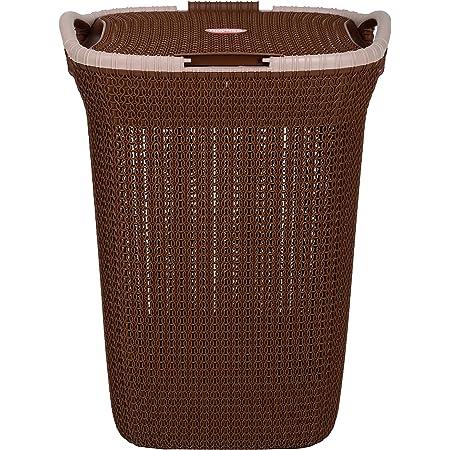 Nayasa Plastic Laundry Basket, Brown