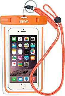 """EOTW IPX8 Universal Waterproof Case for Smartphone Device to 6"""" Fit iPhone 6/6S Plus, iPhone 6 6S 5 5S SE 5C Samsung Galaxy s8/s8plus/s7 Google Pixel HTC10,for Water Parks/Beach/Cruise/Pools"""