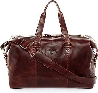 real leather travel bag holdall YALE Large weekender duffel bag 35l overnight duffle bag leather bag women men